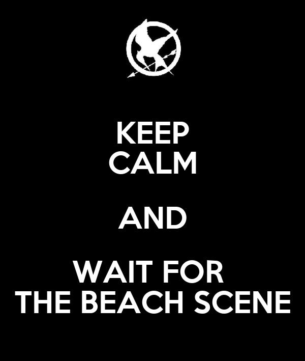 KEEP CALM AND WAIT FOR  THE BEACH SCENE