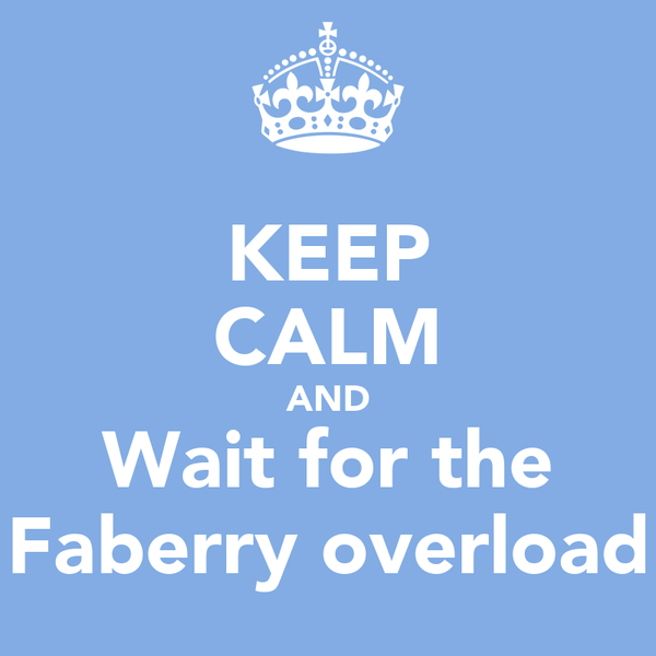 KEEP CALM AND Wait for the Faberry overload