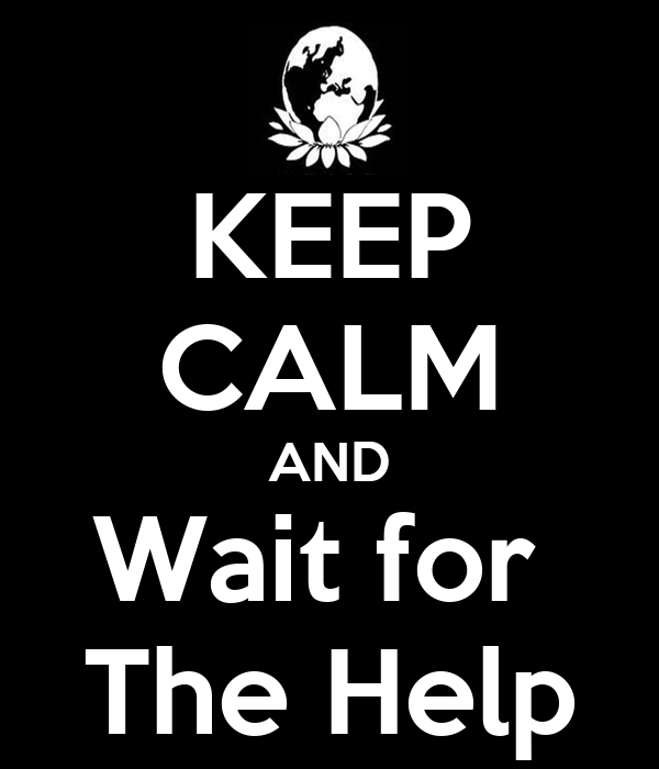 KEEP CALM AND Wait for  The Help