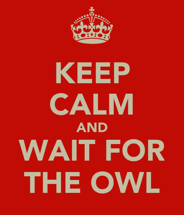 KEEP CALM AND WAIT FOR THE OWL