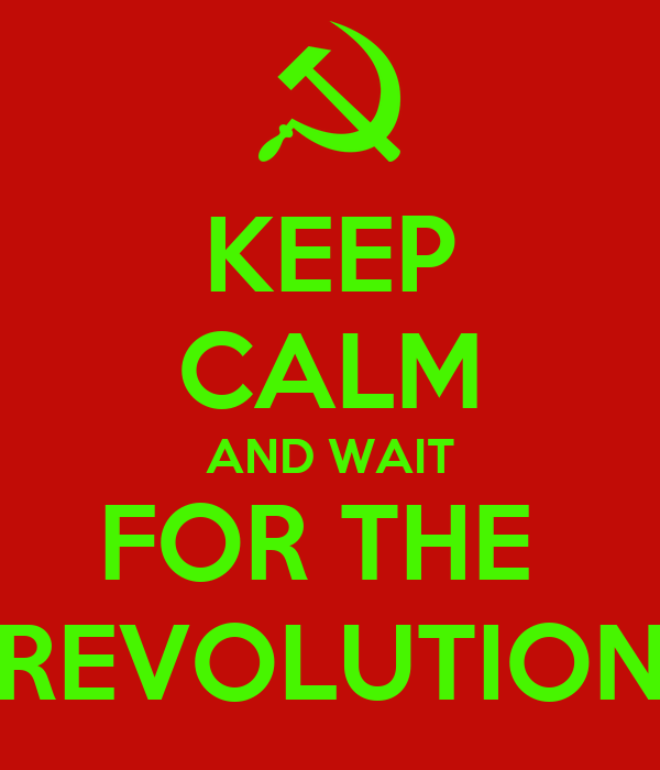 KEEP CALM AND WAIT FOR THE  REVOLUTION