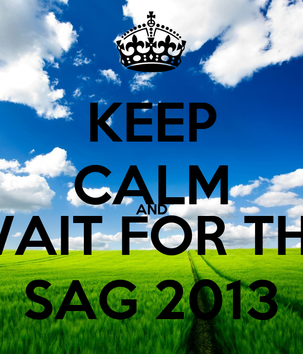 KEEP CALM AND WAIT FOR THE SAG 2013