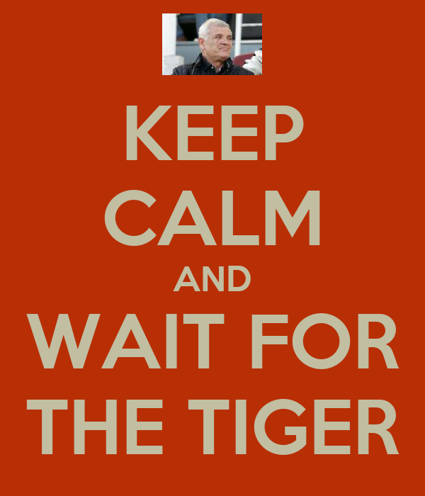 KEEP CALM AND WAIT FOR THE TIGER