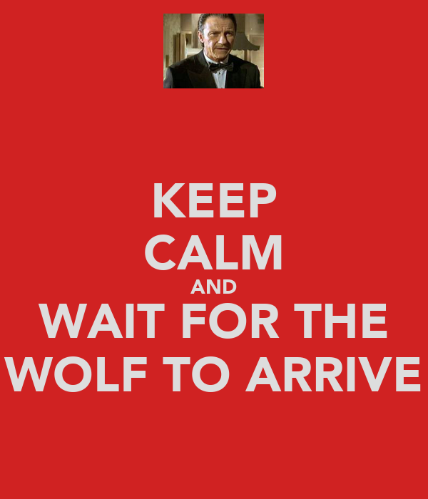 KEEP CALM AND WAIT FOR THE WOLF TO ARRIVE