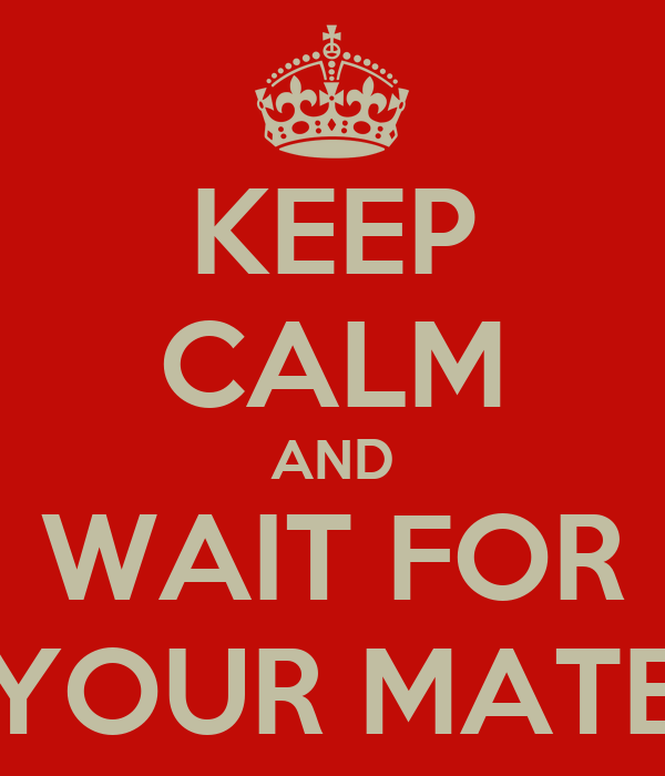 KEEP CALM AND WAIT FOR YOUR MATE