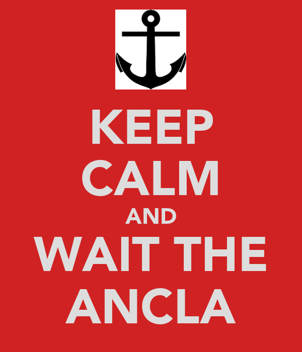 KEEP CALM AND WAIT THE ANCLA