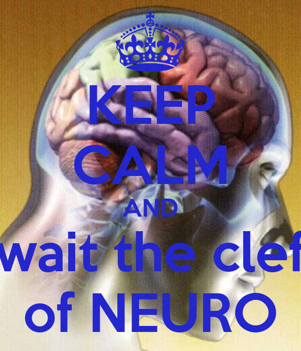 KEEP CALM AND wait the clef of NEURO