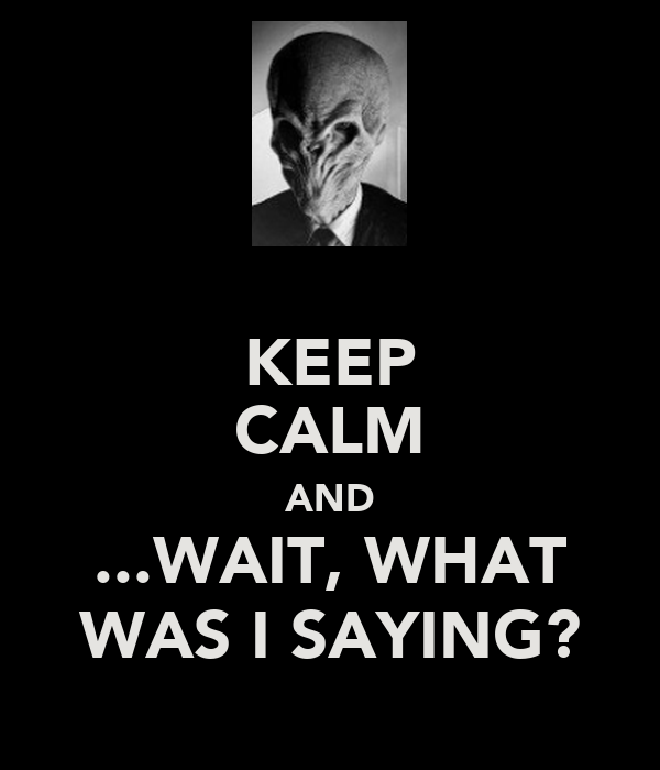 KEEP CALM AND ...WAIT, WHAT WAS I SAYING?