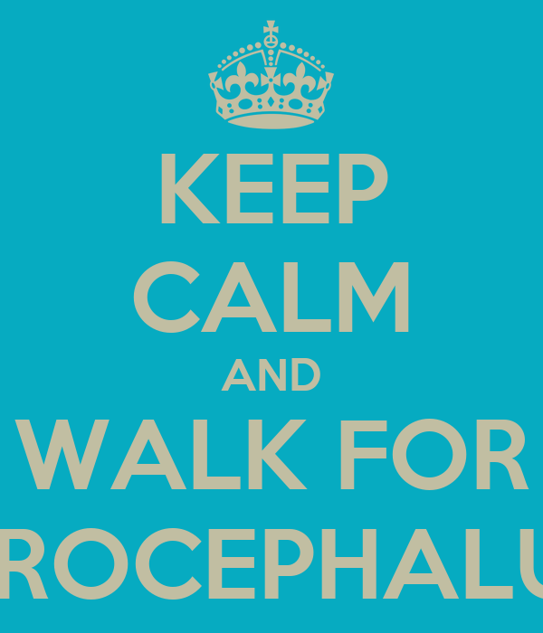 KEEP CALM AND WALK FOR HYDROCEPHALUS :D
