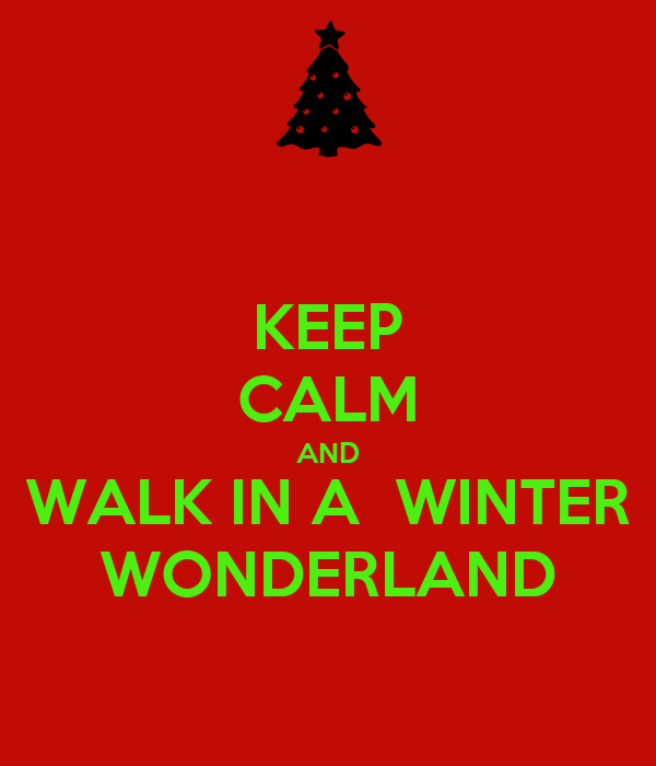 KEEP CALM AND WALK IN A  WINTER WONDERLAND