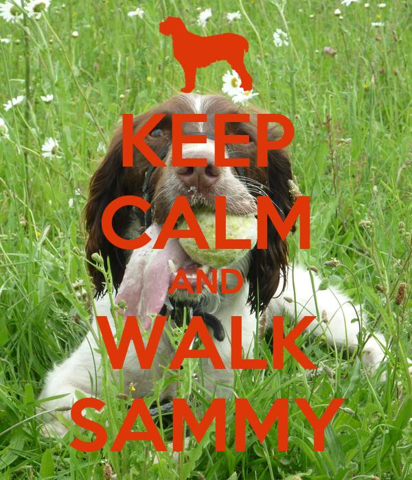 KEEP CALM AND WALK SAMMY