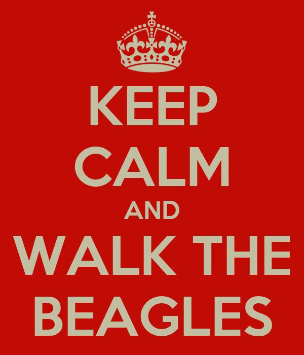 KEEP CALM AND WALK THE BEAGLES