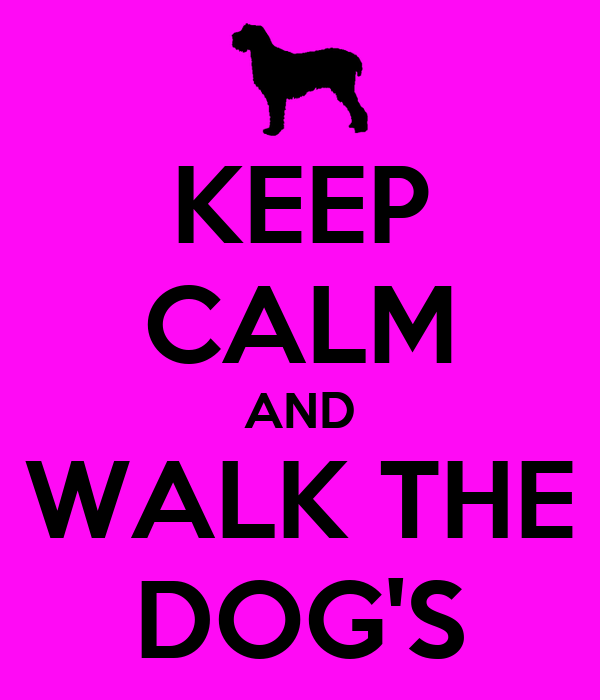 KEEP CALM AND WALK THE DOG'S