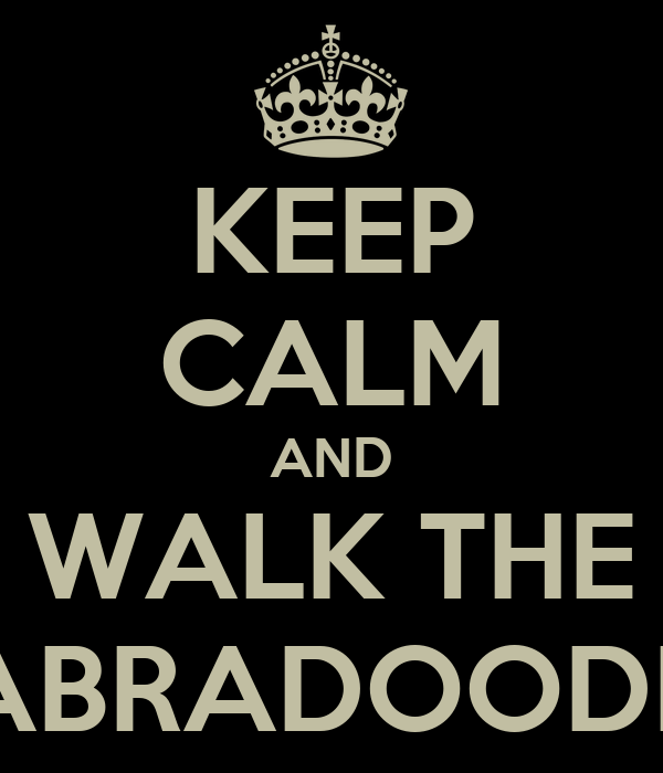 KEEP CALM AND WALK THE LABRADOODLE