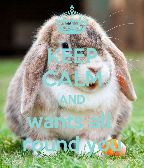 KEEP CALM AND wants all  round you