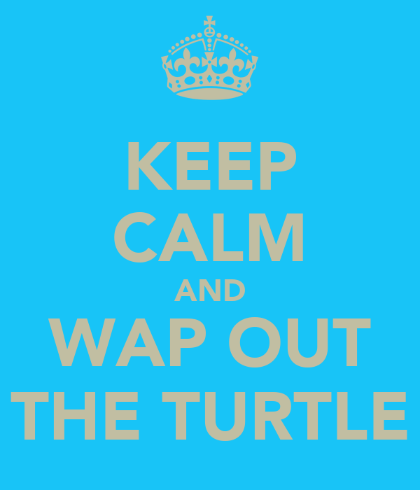 KEEP CALM AND WAP OUT THE TURTLE