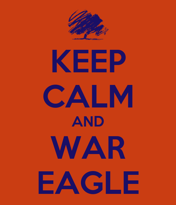 KEEP CALM AND WAR EAGLE