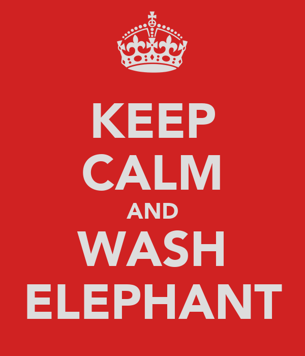 KEEP CALM AND WASH ELEPHANT