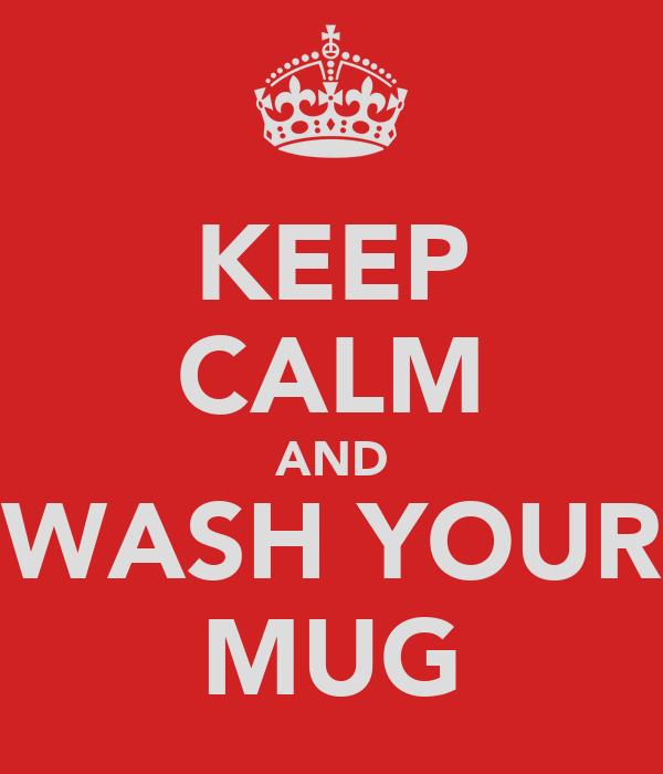 KEEP CALM AND WASH YOUR MUG