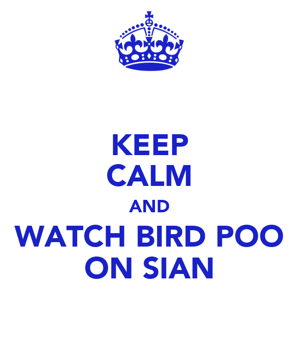 KEEP CALM AND WATCH BIRD POO ON SIAN