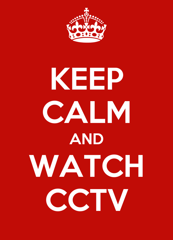 KEEP CALM AND WATCH CCTV