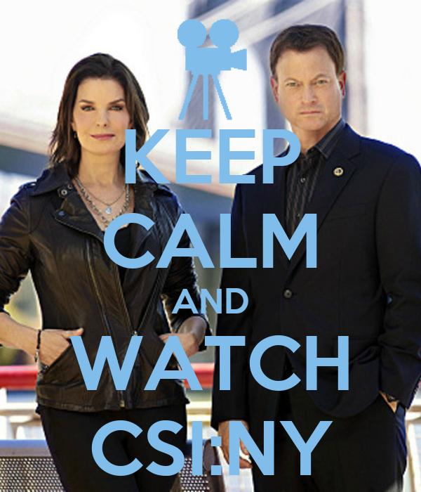 KEEP CALM AND WATCH CSI:NY
