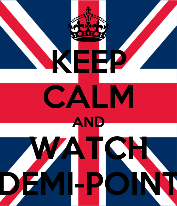 KEEP CALM AND WATCH DEMI-POINT
