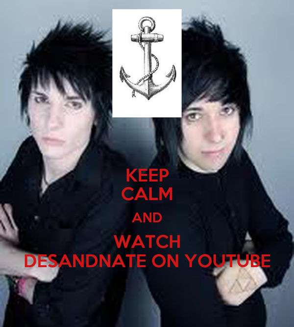 KEEP CALM AND WATCH DESANDNATE ON YOUTUBE