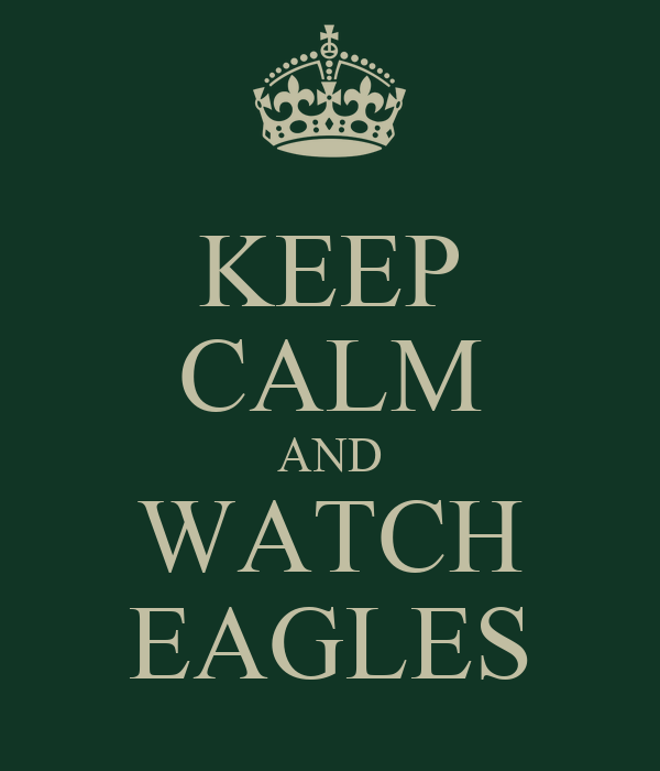 KEEP CALM AND WATCH EAGLES