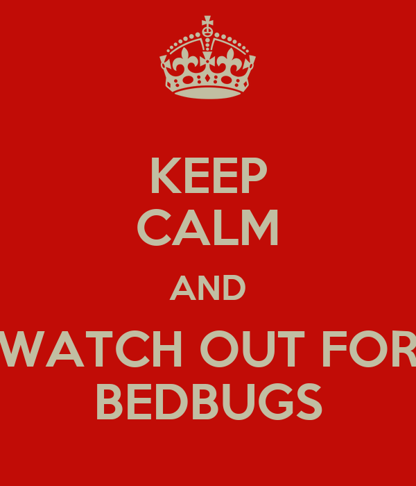 KEEP CALM AND WATCH OUT FOR BEDBUGS