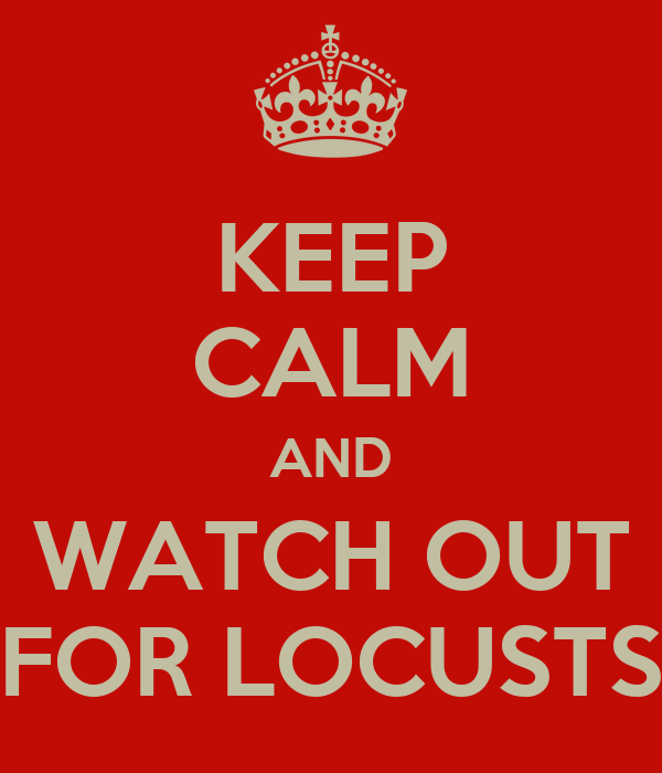KEEP CALM AND WATCH OUT FOR LOCUSTS