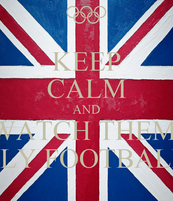 KEEP CALM AND WATCH THEM  PLY FOOTBALL