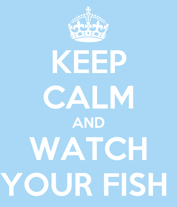 KEEP CALM AND WATCH YOUR FISH