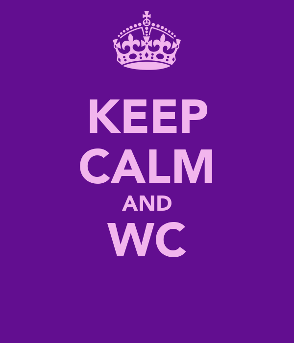 KEEP CALM AND WC