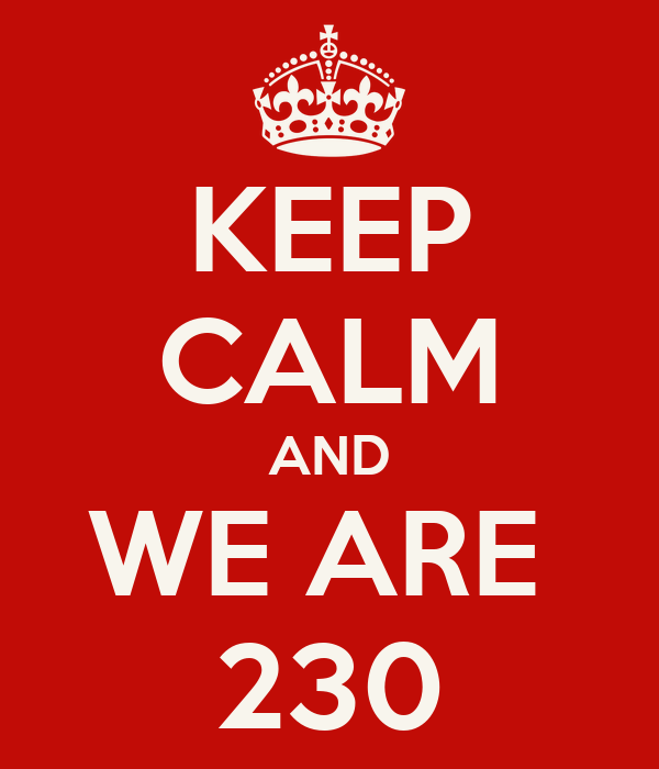 KEEP CALM AND WE ARE  230