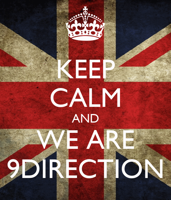 KEEP CALM AND WE ARE 9DIRECTION