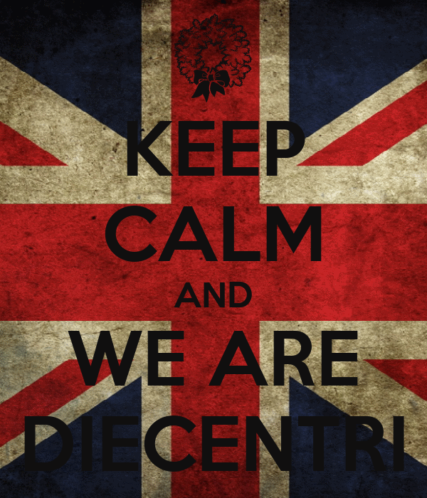 KEEP CALM AND WE ARE DIECENTRI