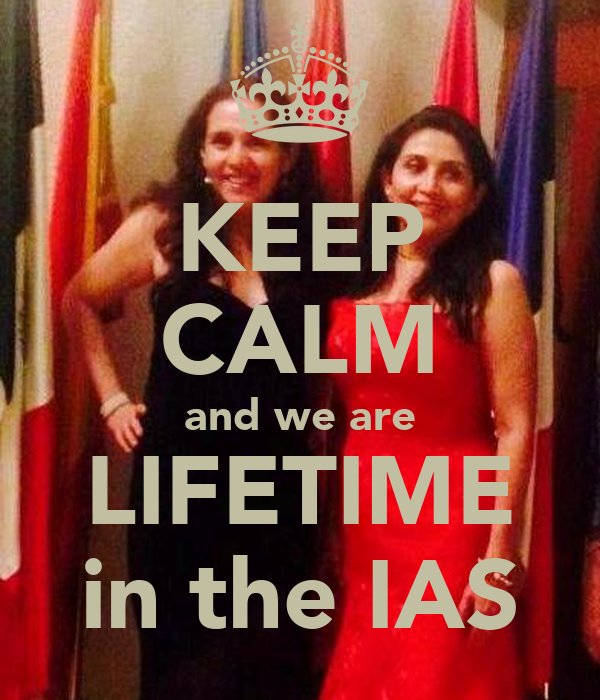KEEP CALM and we are LIFETIME in the IAS