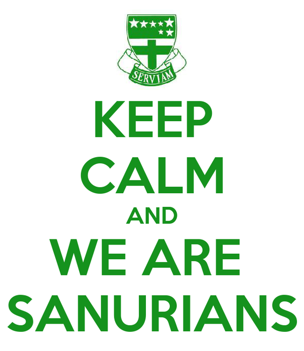 KEEP CALM AND WE ARE  SANURIANS