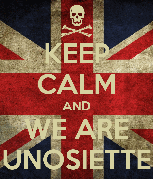 KEEP CALM AND WE ARE UNOSIETTE