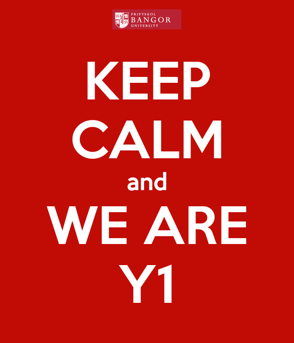 KEEP CALM and WE ARE Y1