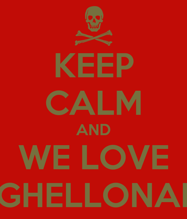 KEEP CALM AND WE LOVE BIGHELLONARE