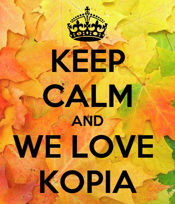 KEEP CALM AND WE LOVE  KOPIA