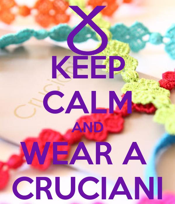 KEEP CALM AND WEAR A  CRUCIANI
