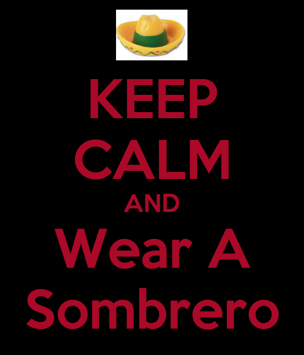 KEEP CALM AND Wear A Sombrero