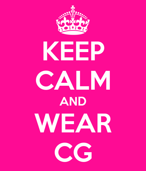 KEEP CALM AND WEAR CG