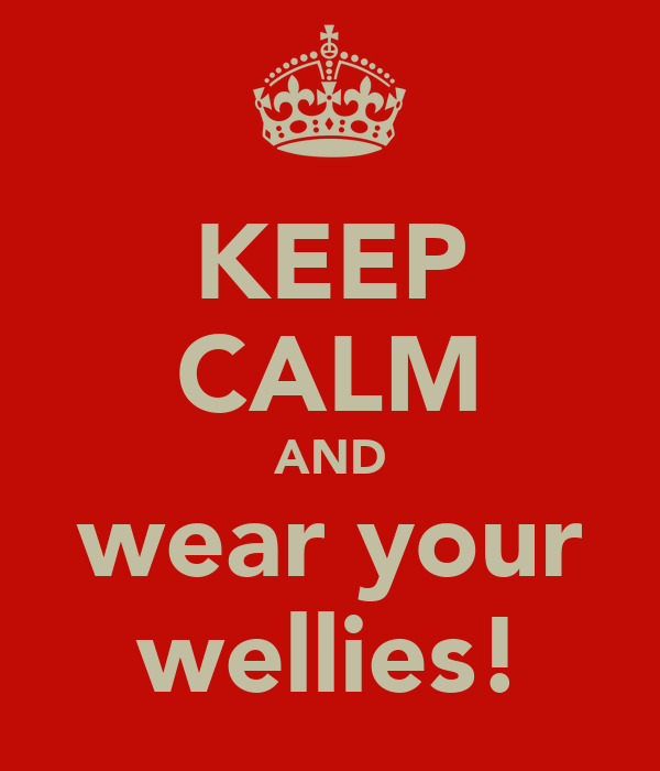 KEEP CALM AND wear your wellies!