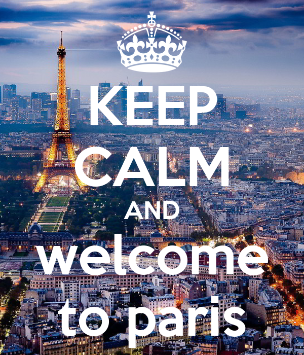 keep calm and welcome to paris poster ly keep calm o matic. Black Bedroom Furniture Sets. Home Design Ideas