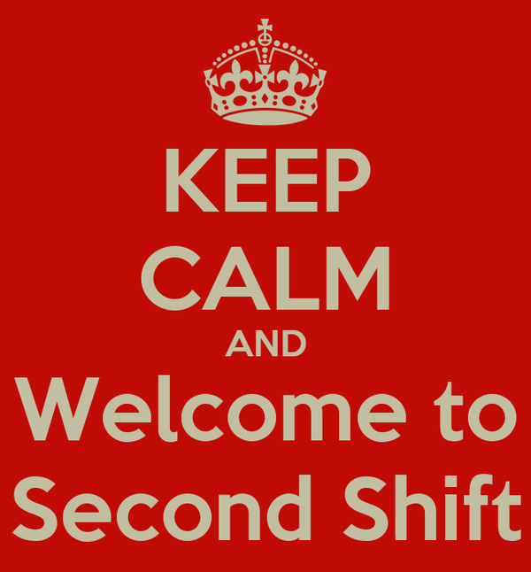 KEEP CALM AND Welcome to Second Shift