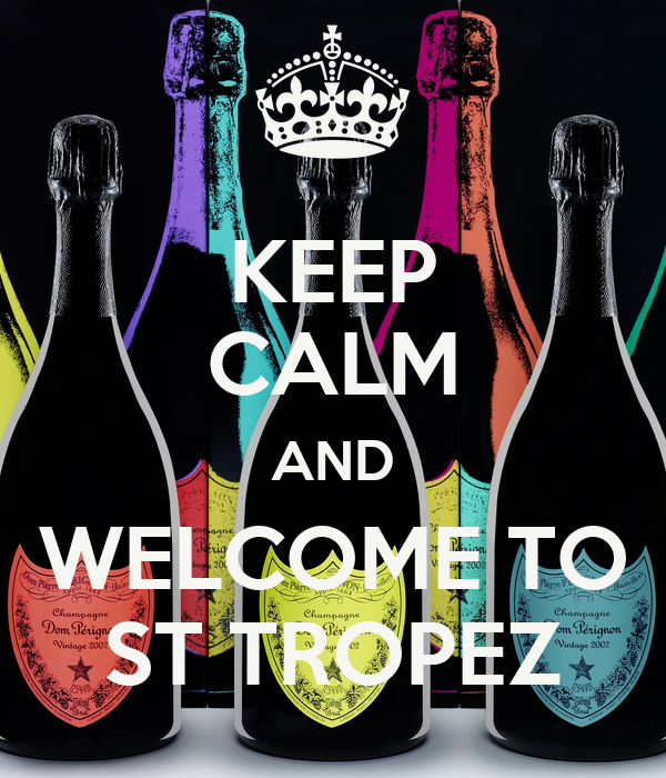 keep calm and welcome to st tropez poster antoni keep. Black Bedroom Furniture Sets. Home Design Ideas